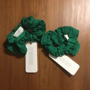 NWT Lot of 2 Emerald Green Gymboree Scrunchies